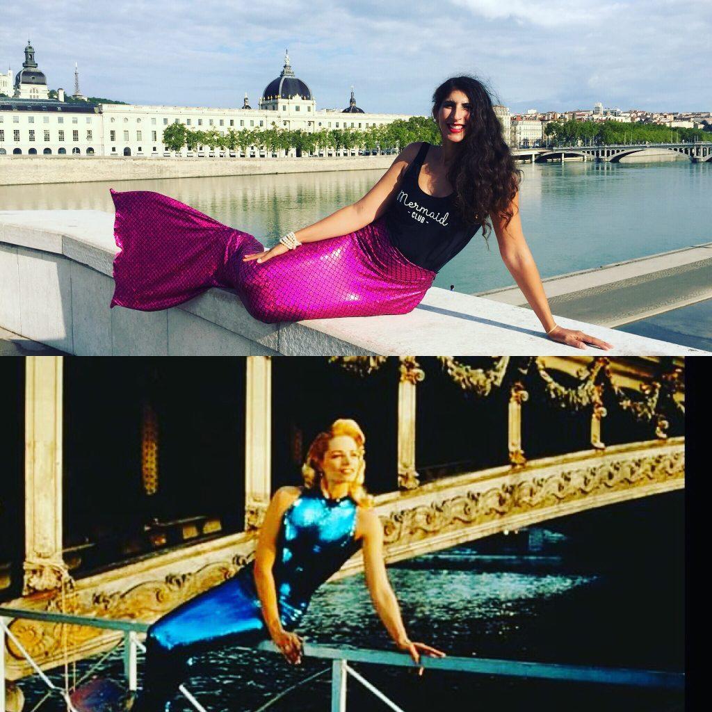 Vanessa la sirène de Lyon pose comme Muriel Hermine